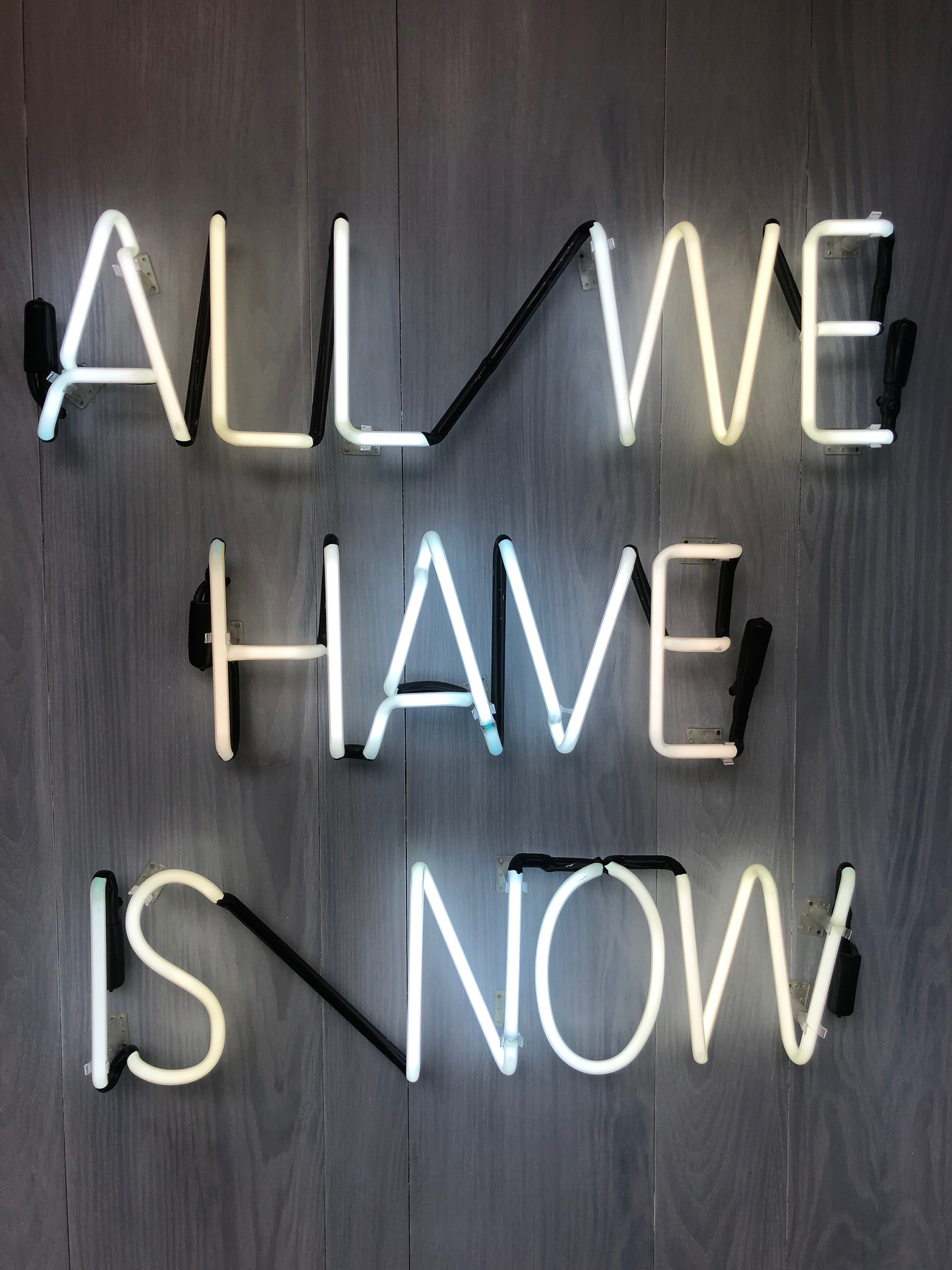 Cryo Fuel NYC Neon Sign All We Have Is Now