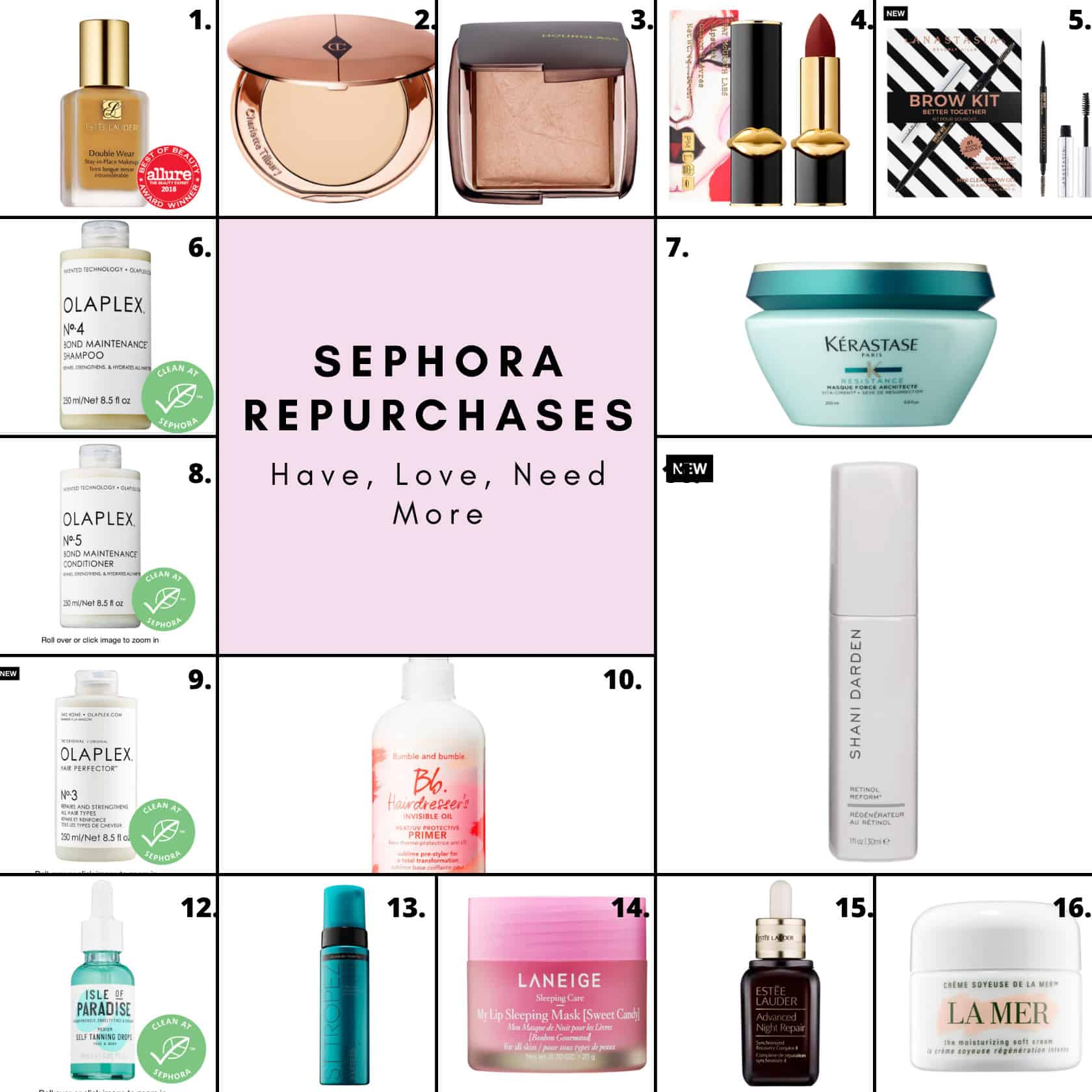 Favorite Sephora Products RePurchases